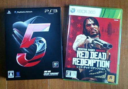 グランツーリスモ5 と Red Dead Redemption