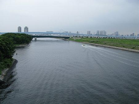 2009.08.14 東京湾よりの隅田川(1/2)
