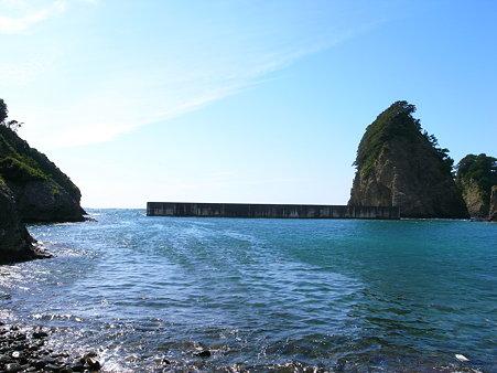 田子・瀬浜海岸の外洋方向の景色