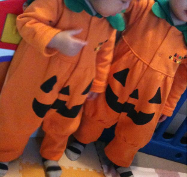 ★pumpkin twins★ 保育園のハロウィンパーティーに備えて。
