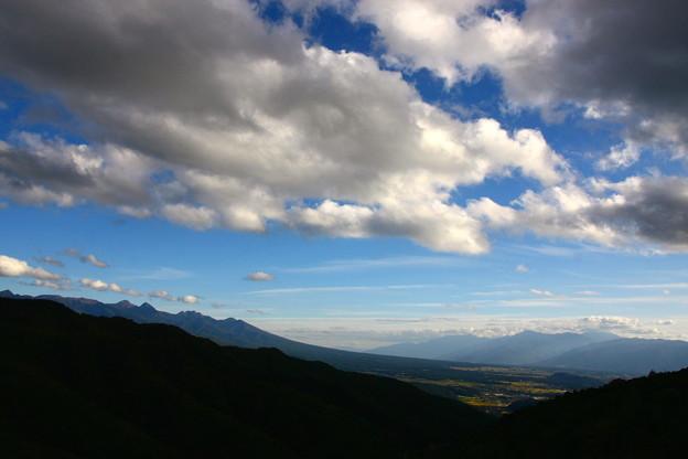 車山から望む  八ヶ岳の稜線