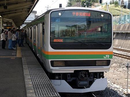 E231系湘南新宿ライン(東戸塚駅)