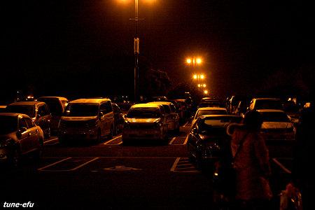 駐車場の夜