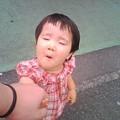 写真: 姫のヘン顔 2歳4カ月