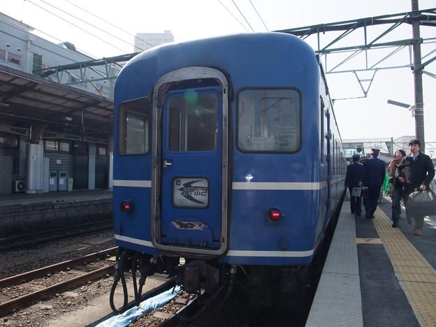 Photos: 熊本駅に到着した寝台特急はやぶさ