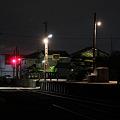 阿字ヶ浦駅 夜のホーム