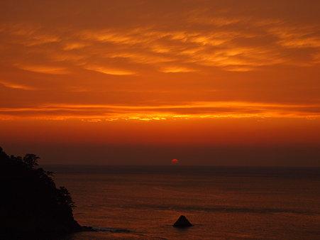 西伊豆の夕日1