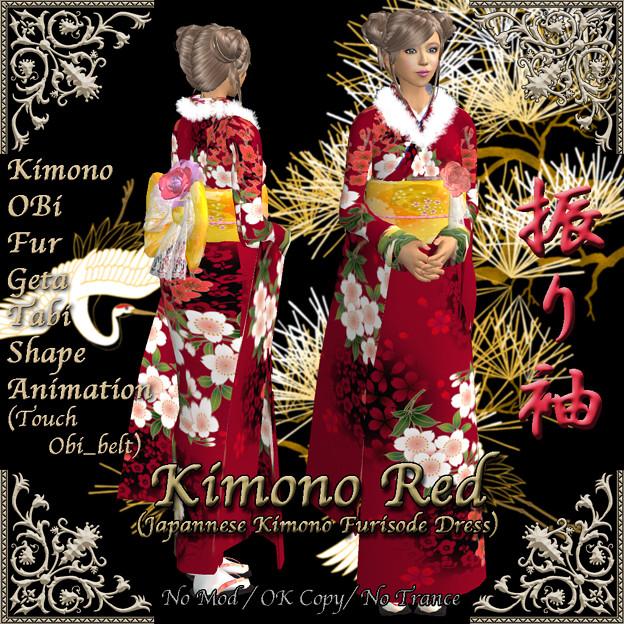 *Miroku*Kimono Red