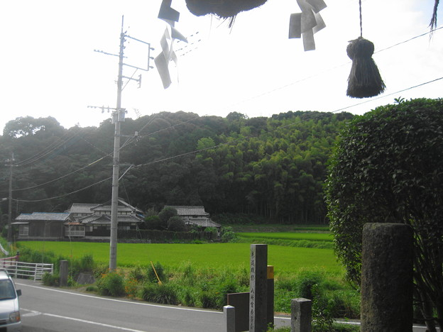 八所宮鳥居からみた風景(9月3日)
