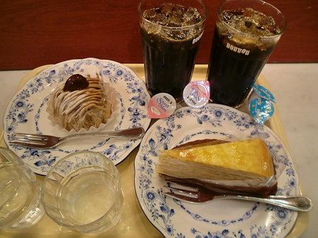 アイスコーヒー&ケーキ