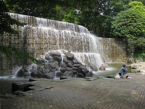 Shinjuku Niagara Falls at Shinjuku Chuo Park