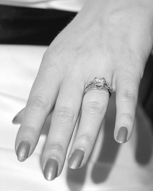 Photos: 婚約指輪と結婚指輪