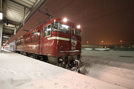 函館で停車中の北斗星