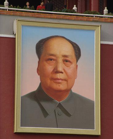 天安門に掲げられた毛沢東の肖像