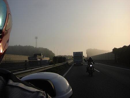朝霧だから晴れるよ