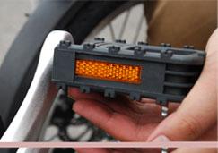 かっこいい激安軽量折り畳み自転車のペダル