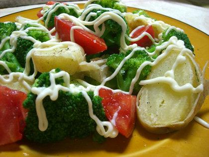たまには温野菜サラダ