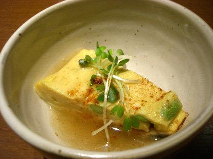 温菜・ウナギと枝豆の出汁巻き