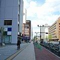 写真: E-1 大手町平和ビル前(市役所前)サイクルポート (遠景)