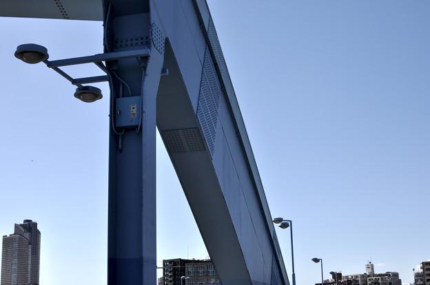 丸子橋の街路灯