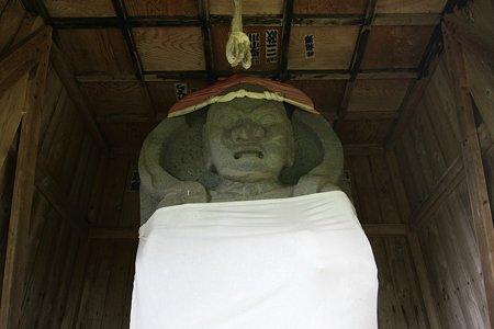 2009.08.13 男鹿半島 長楽寺 仁王石像
