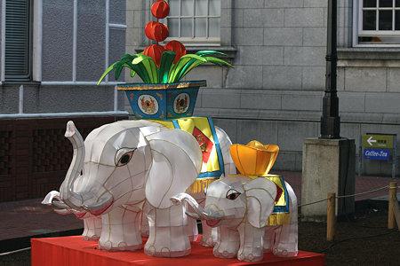 2009.09.20 開港資料館 横浜中華街燈籠会 象の親子
