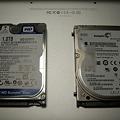 Western Digital Scorpio Blue 2.5inch 5200rpm 1TB 8MB SATA WD10TPVT+内蔵250GB HDD_P5160056