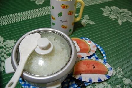 白米&デザート&お茶