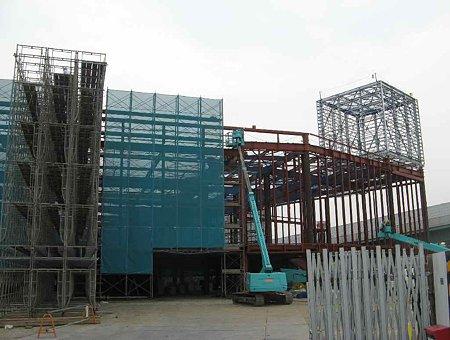 エイデン一宮本店 2009年秋オープン予定 鉄骨組み立て中-210823-1