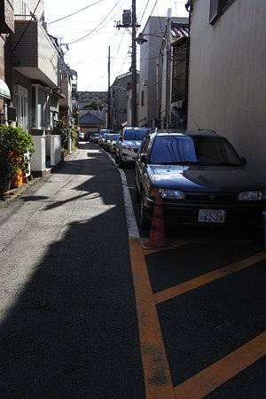下町の駐車場