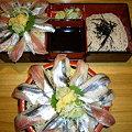 写真: 700円丼の秋刀魚丼