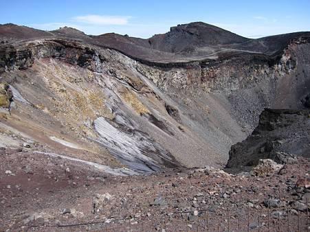 迫力の噴火口