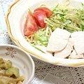 Photos: トマトとオクラとキュウリと茄子で夕飯