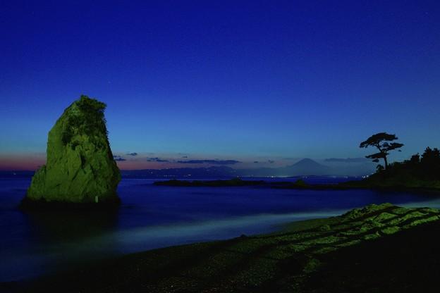 夜の秋谷海岸DSC1327