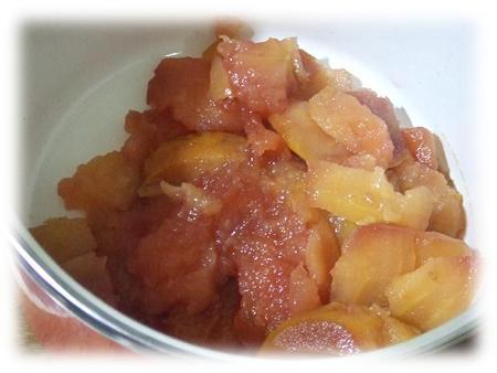 りんごの赤ワイン煮2