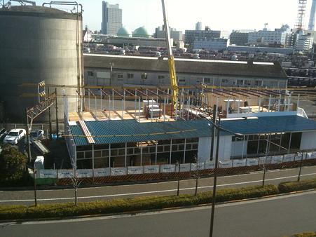 クレヴィア南千住・モデルルーム建設(2011/1)