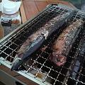 写真: まずは、秋刀魚ね♪