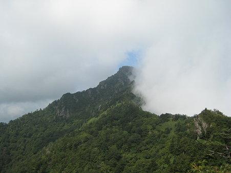 だんだんガスに巻かれていく石鎚山