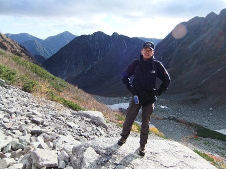 奥穂高岳登り途中