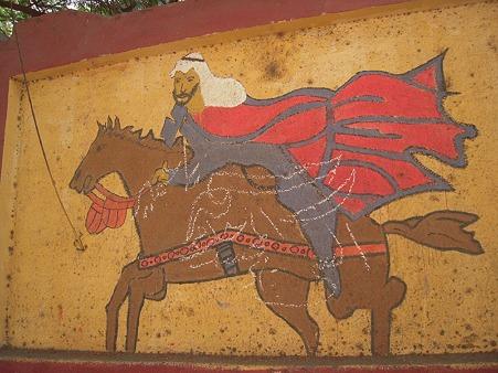 馬に乗る人の絵