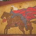 Photos: 馬に乗る人の絵