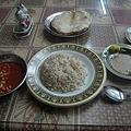 写真: ダハブの大衆食堂のベジタリアン定食